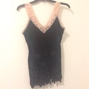 Women's Lace and Floral Tank Top